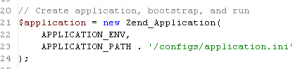 Zend_Application in index.php