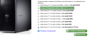 Upgrade from AMD Athlon II X2 215 to Phenom II X4 945 @ Dell.com