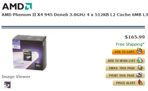 Phenom II X4 945 @ NewEgg.com